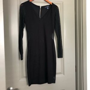 French Connection Black Long Sleeve Dress